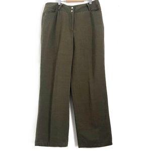Vintage Linen Blend Trouser Straight Leg Pants